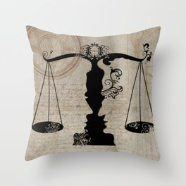Weigh your Justice  Throw Pillow