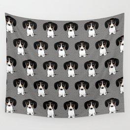 Piebald Dachshund | Cute Wiener Dog Puppy Wall Tapestry