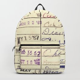 Library Card 780 The Wonderful World of Music Backpack