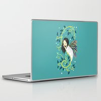 bjork Laptop & iPad Skins featuring Cocoon by Freeminds