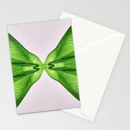Surreal kaleidoscope of Greenery and Rose Quartz colored samara maple tree dried fruits Stationery Cards