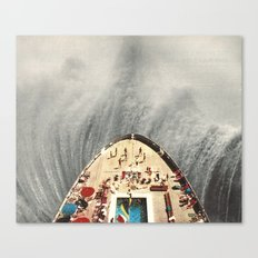 a great big wave (to wash it all away) - collab with sammy slabbinck Canvas Print