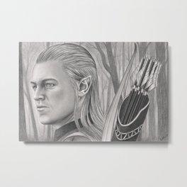 Elf Archer Metal Print