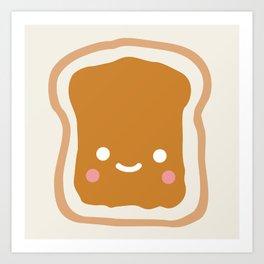 peanut butter sandwich Art Print