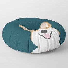Teagan - Corgi Welsh Corgi gift phone case design for pet lovers and dog people Floor Pillow