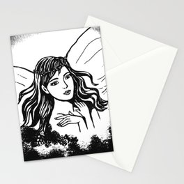 Fairyland In Black and White Stationery Cards
