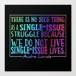 No Single Issue Typography Art, Rainbow Canvas Print