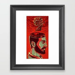 Out of your mind Framed Art Print