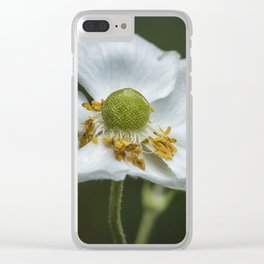 Graceful Anemone Closeup Clear iPhone Case
