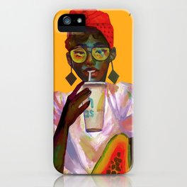 Study in Yellow iPhone Case
