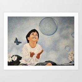 Joyful child Art Print