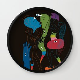 Saturday Night Shenanigans Wall Clock