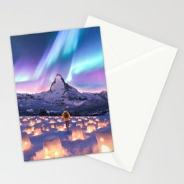 Snow Lanterns Stationery Cards