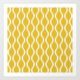 Classic Retro Ogee Pattern 850 Yellow Art Print