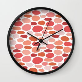 Pinkish Bubbles Wall Clock