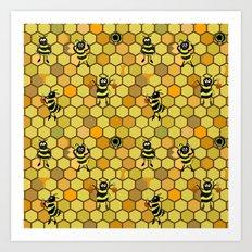 Cute cartoon bees Art Print