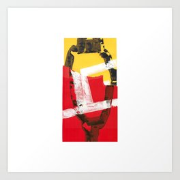 Red and yellow abstract painting Art Print