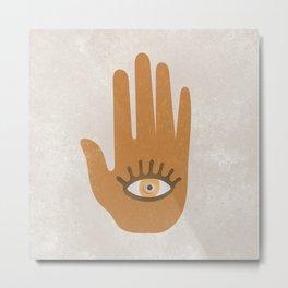 Hamsa, Hand of God#Art print#Society6 Metal Print