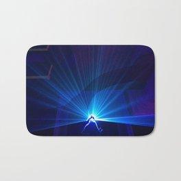 Blue laser Bath Mat
