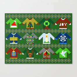 The Ugly 'Ugly Christmas Sweaters' Sweater Design Canvas Print