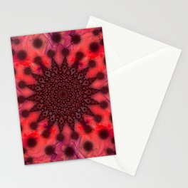 Christmas Snowflake Fractal Art Stationery Cards