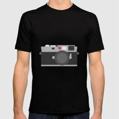 Leica Black Mens Fitted Tee X-LARGE