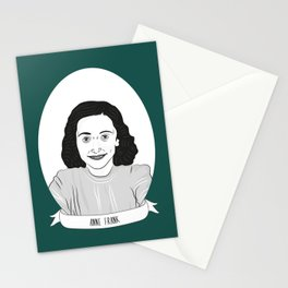Anne Frank Illustrated Portrait Stationery Cards