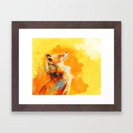 Blissful Light - Fox portrait Framed Art Print
