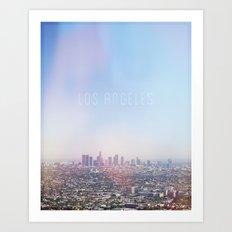 Los Angeles Skyline Typography  Art Print