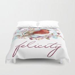 Robin - Bird Watercolor Duvet Cover