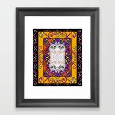 CAT ARABESQUE GYPSY SUNNY YELLOW Framed Art Print