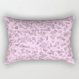 Millennial Pink Terrazzo Tile Rectangular Pillow