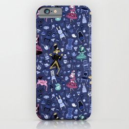 Alice - Mad Tea Party Pattern iPhone Case