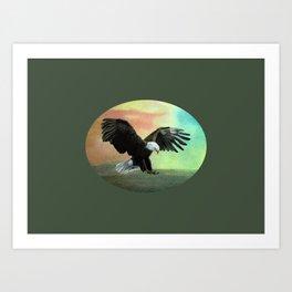 Bald Eagle Landing Freedom Art Print