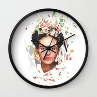 frida Wall Clocks featuring Frida by Tracie Andrews