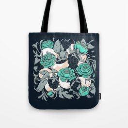 Berries and Snake Florals Tote Bag