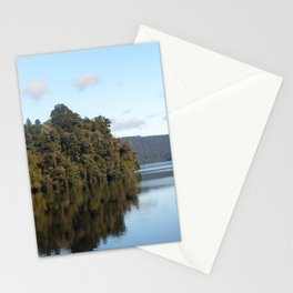 Morning skies over lake Stationery Cards