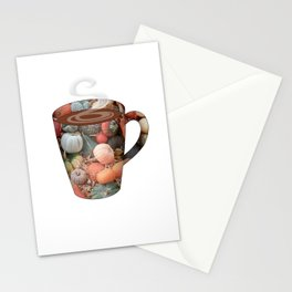 pumpkin spice tall mug - coffee cup series Stationery Cards