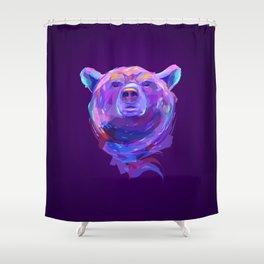 Neon Bear Shower Curtain