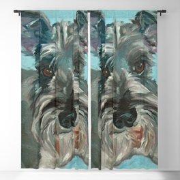 Schnauzer Dog Portrait Blackout Curtain