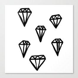 Little Rocks - Diamonds Canvas Print