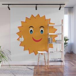 Wish You Luck Sun - Morning Vibes - Fresh & Fun - Pop Style Wall Mural
