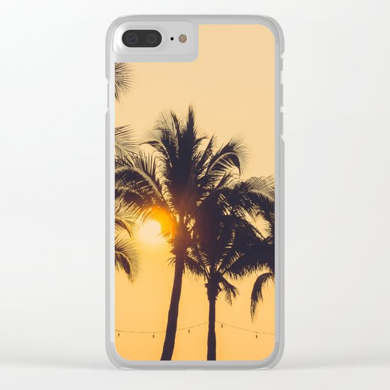 Good Vibes #society6 #palm trees Clear iPhone Case