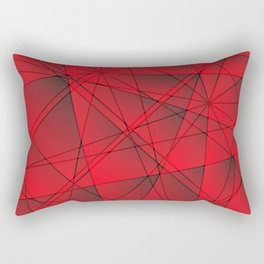 Geometric web of red lines with cross triangular highlights. Rectangular Pillow