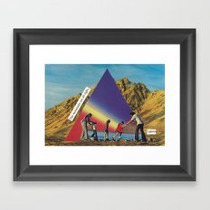 the mountains are all right, i guess Framed Art Print