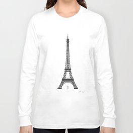 Eiffel Tower - First Kiss Long Sleeve T-shirt