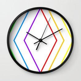 Rainbow Shape of You Wall Clock