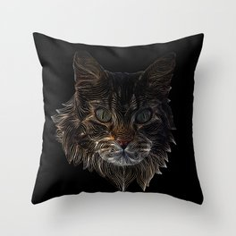 Cat in Strings Throw Pillow