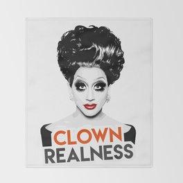 """""""Clown Realness"""" Bianca Del Rio, RuPaul's Drag Race Queen Throw Blanket"""