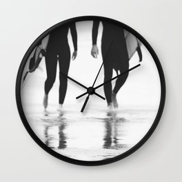 Catch a Wave lll  - abstract surf board photography - part of a series by Ingrid Beddoes Wall Clock